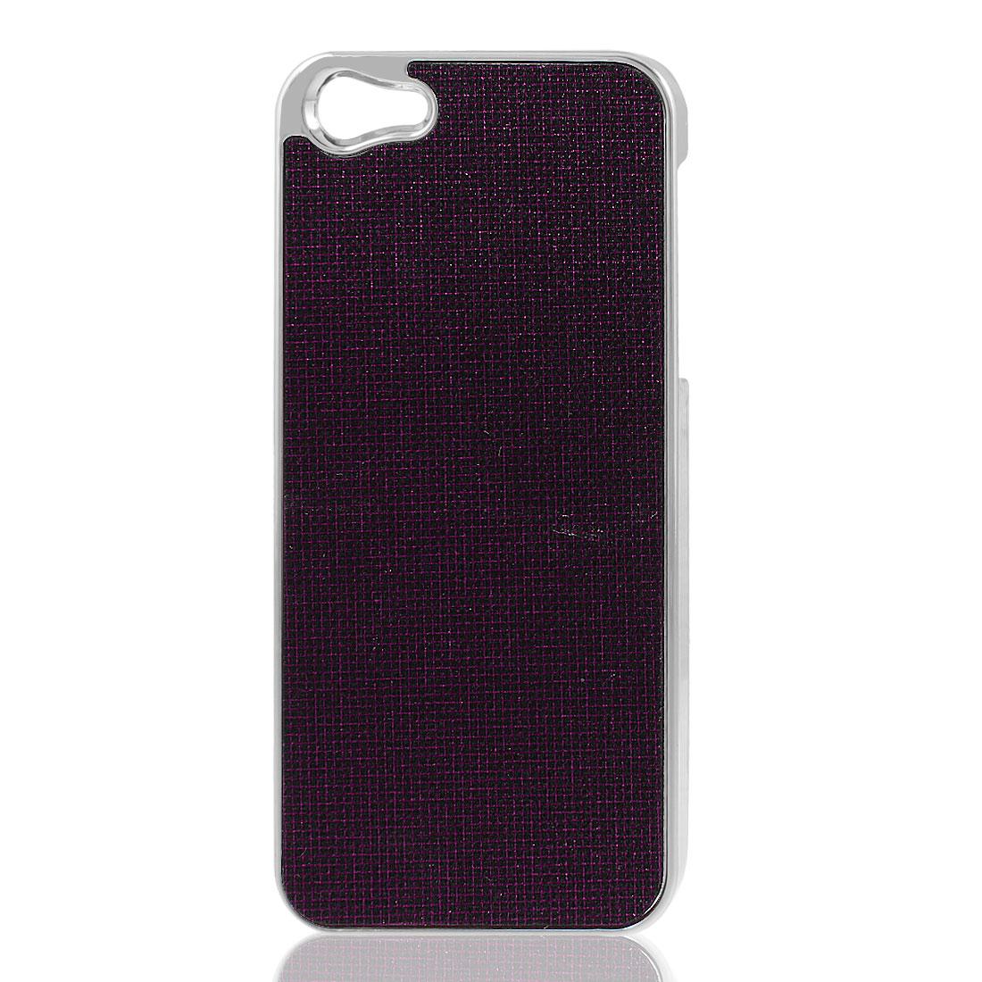 Dark Purple Bling Glittery Hard Back Case Cover Shell for iPhone 5 5G