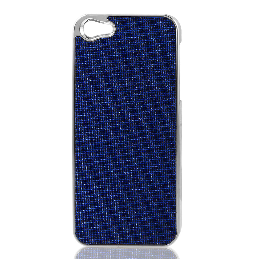Royal Blue Bling Glittery Hard Plastic Back Case Cover for iPhone 5 5G