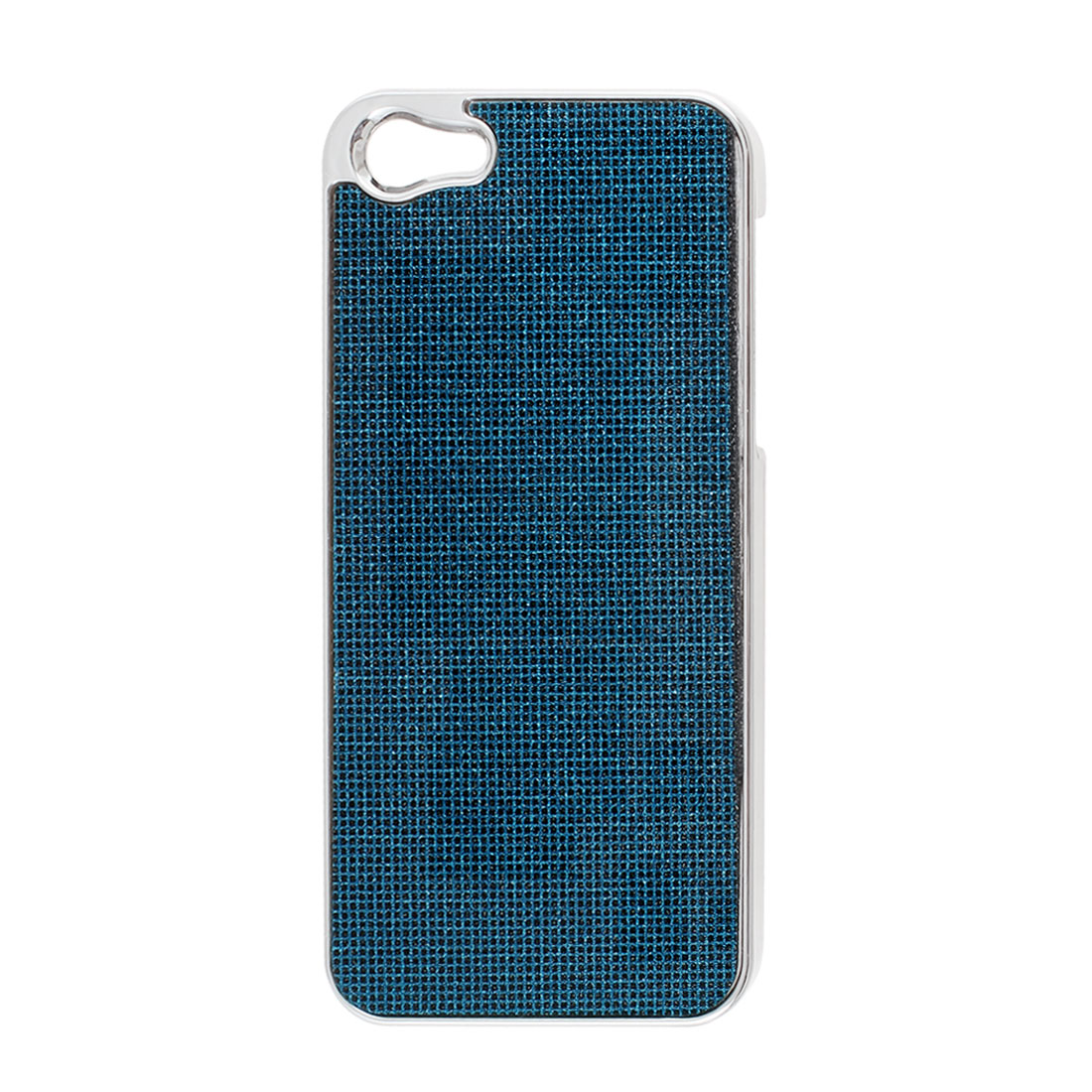 Teal Blue Bling Glittery Hard Plastic Back Case Cover for iPhone 5 5G