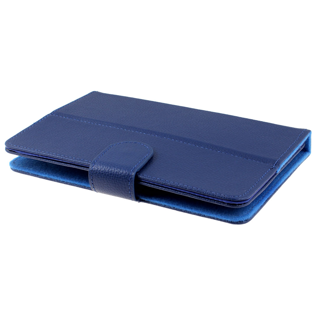 "Dark Blue Faux Leather Folio Case Magnetic Flip Cover for Cobalt 7"" Android Tablet"