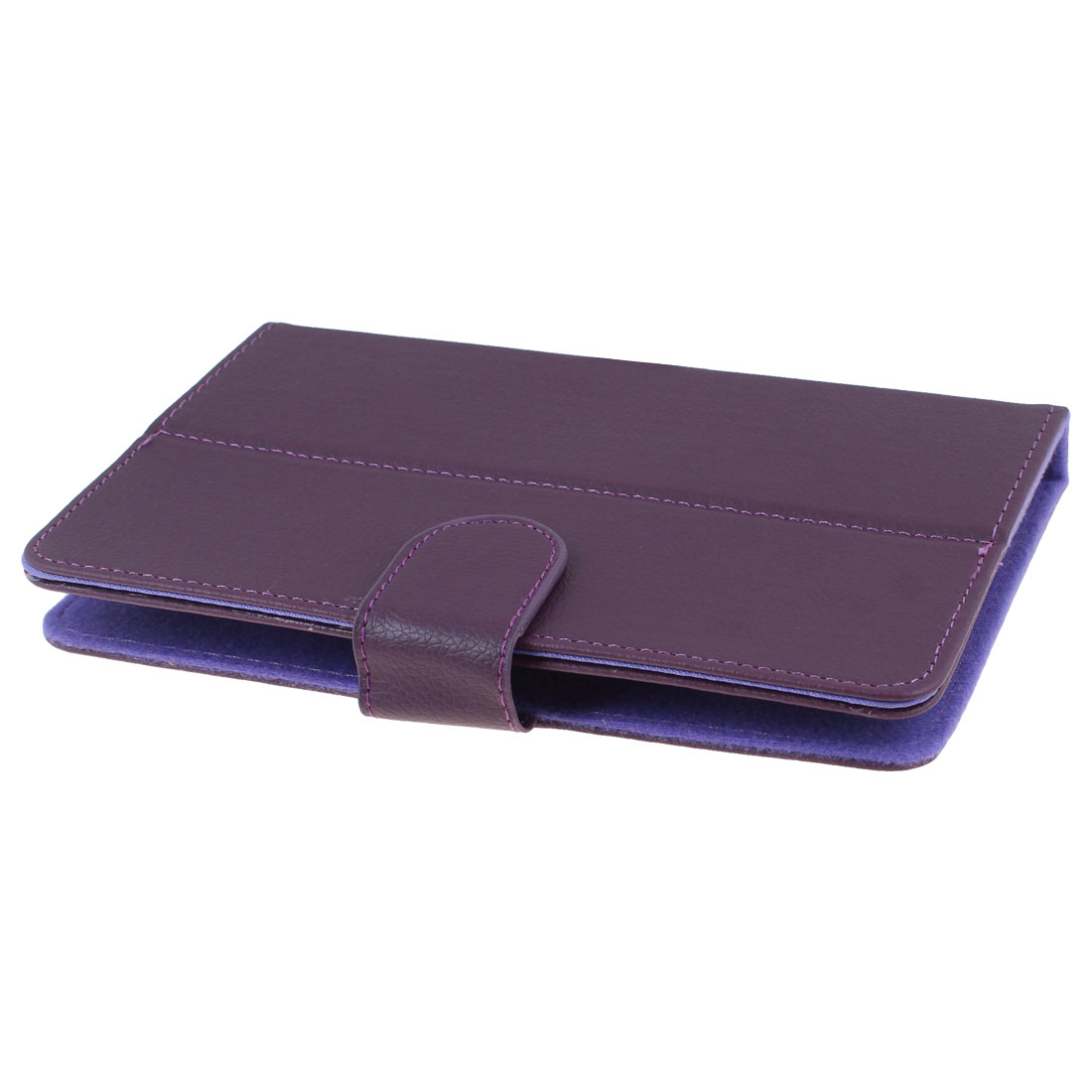 """Purple Faux Leather Folio Case Magnetic Flip Cover for Cobalt 7"""" Android Tablet"""