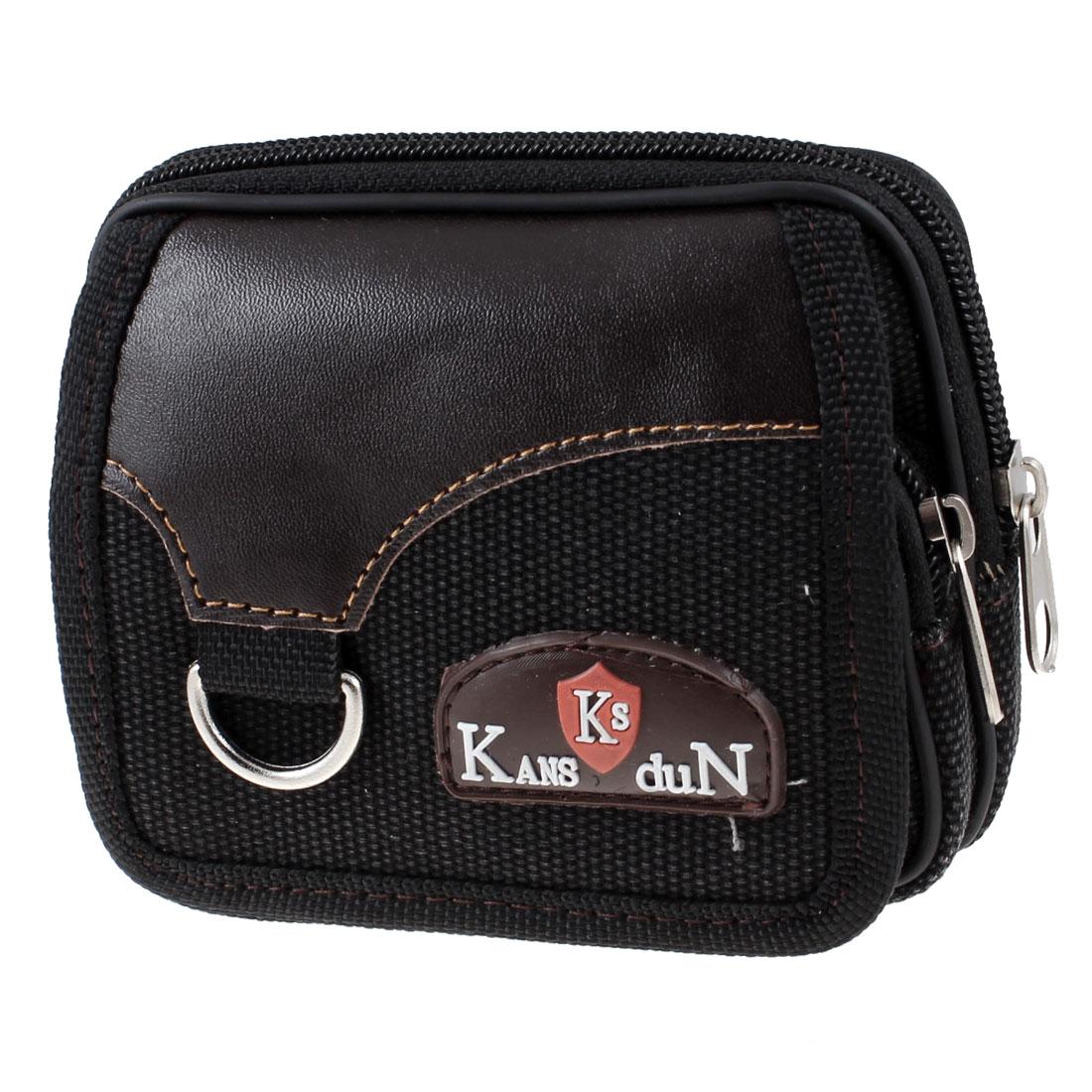 Zipper Closure Digital Camera Container Belt Bag Waist Pack Black
