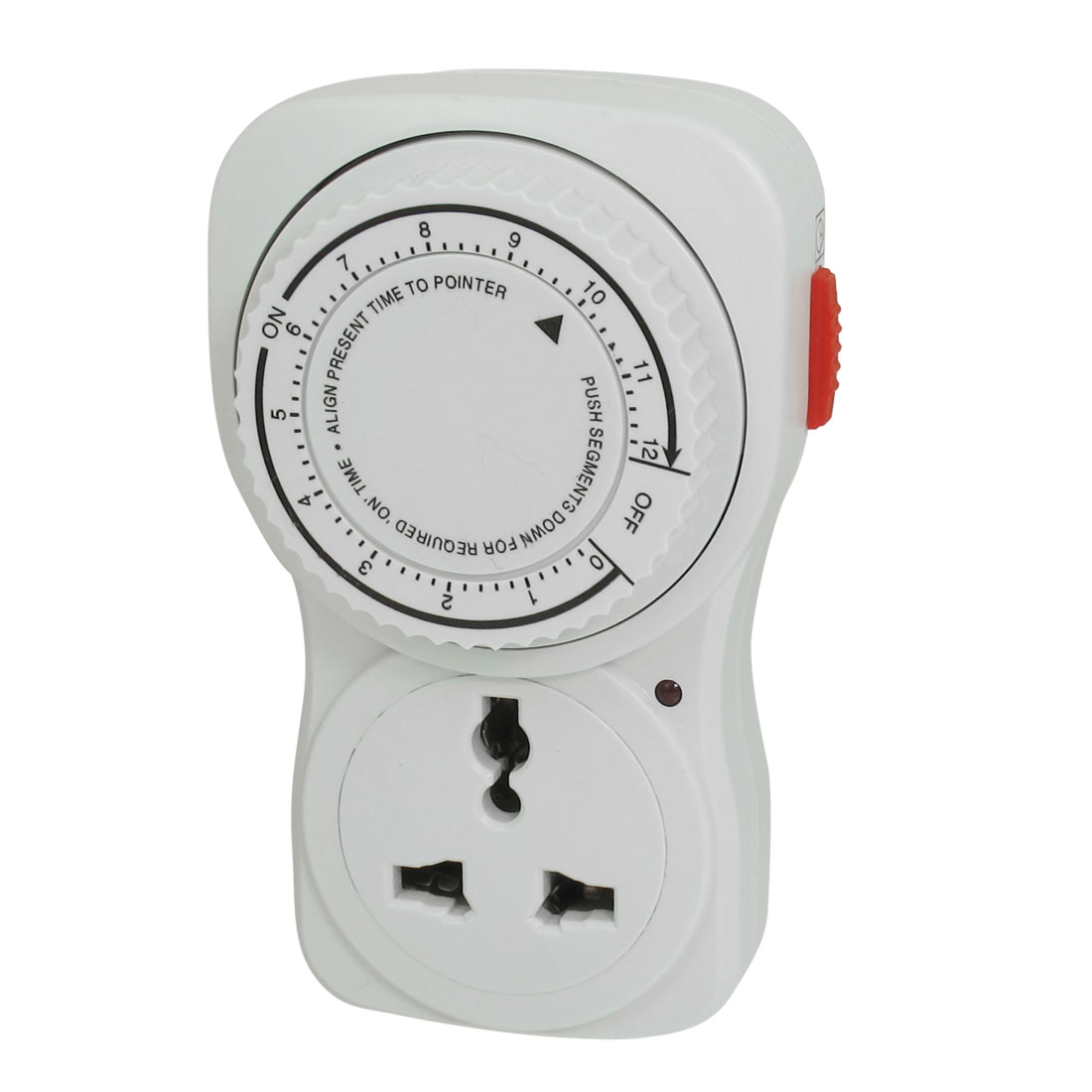 AC 220V-250V 2200W 10A Maximum Load 12 Hour Plug in Programmable Timer