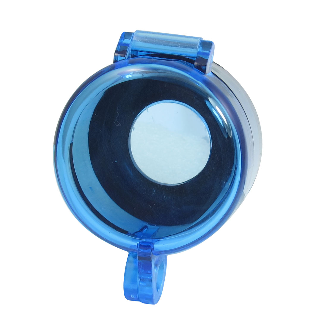 Blue Clear 22mm Plastic Cylinder Push Button Switch Guard Protector