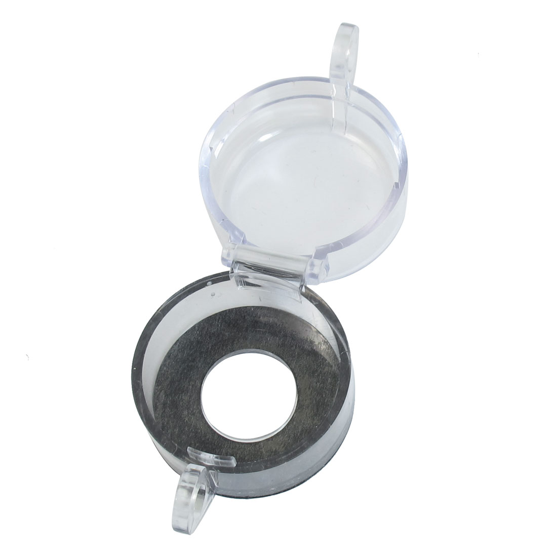 Black Clear Cylinder Shaped Push Button Switch Protector Cover 22mm