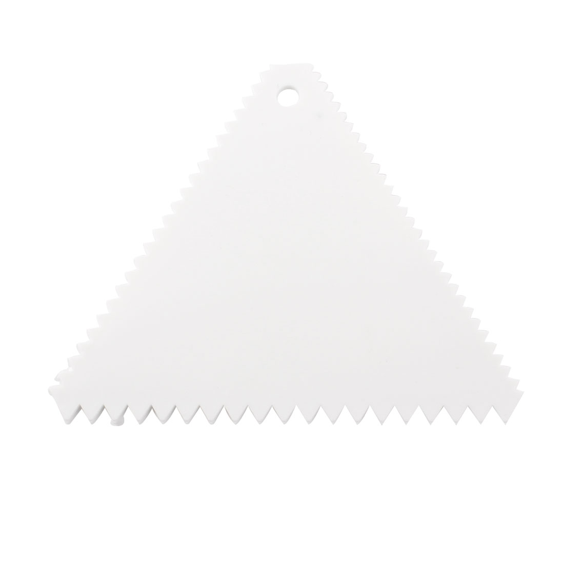 Triangle Shape Flat Plastic Cake Decorator Dough Pasty Scraper Tool White