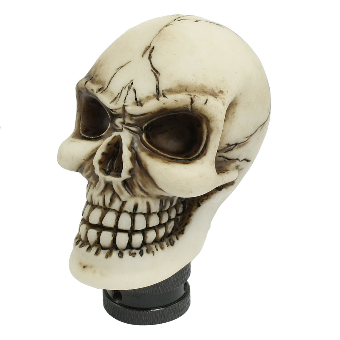 Human Wicked Skull Head Universal Manual Car Shift Knob Shifter MT Gear Beige