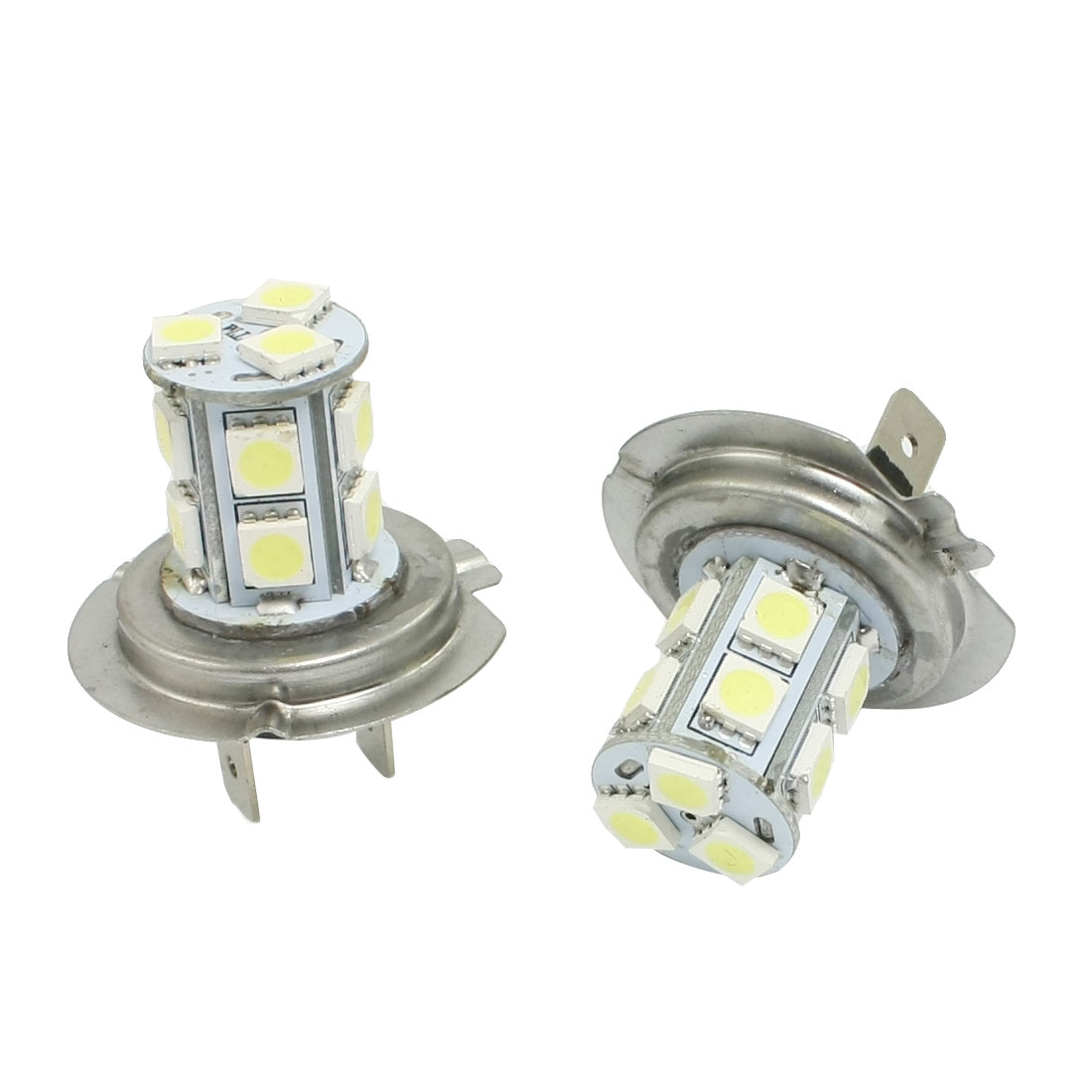 2 Pcs H7 White 13 5050 SMD LED Foglight Head Light Bulb Lamp
