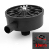 Black Plastic 20mm Thread Exhaust Filter Muffler for Air Compressor