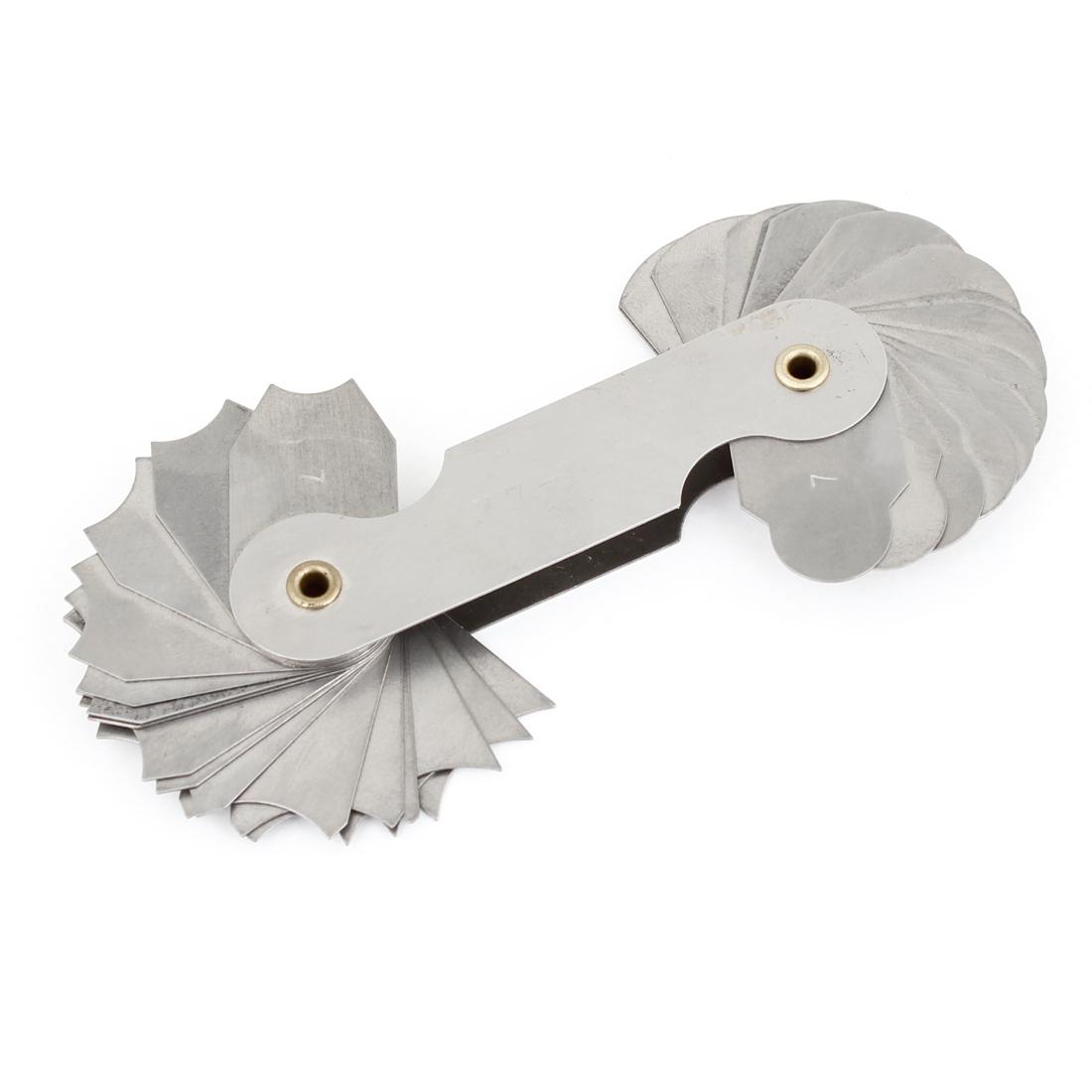 R7-14.5mm Pocket Measure Tool 32 Leaves Radius Gauge Gage