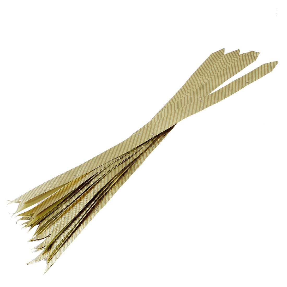 "20"" Long Gold Tone Oblique Stripe Glittery Pull Flower Ribbon 10pcs"