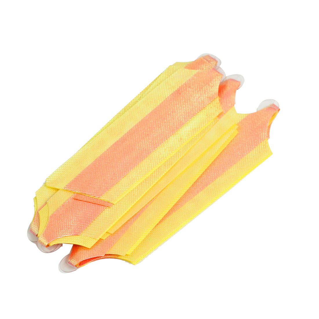2 Pcs DIY Crafts Pull Flower Ribbon Gift Wrap Ornament Orange Yellow