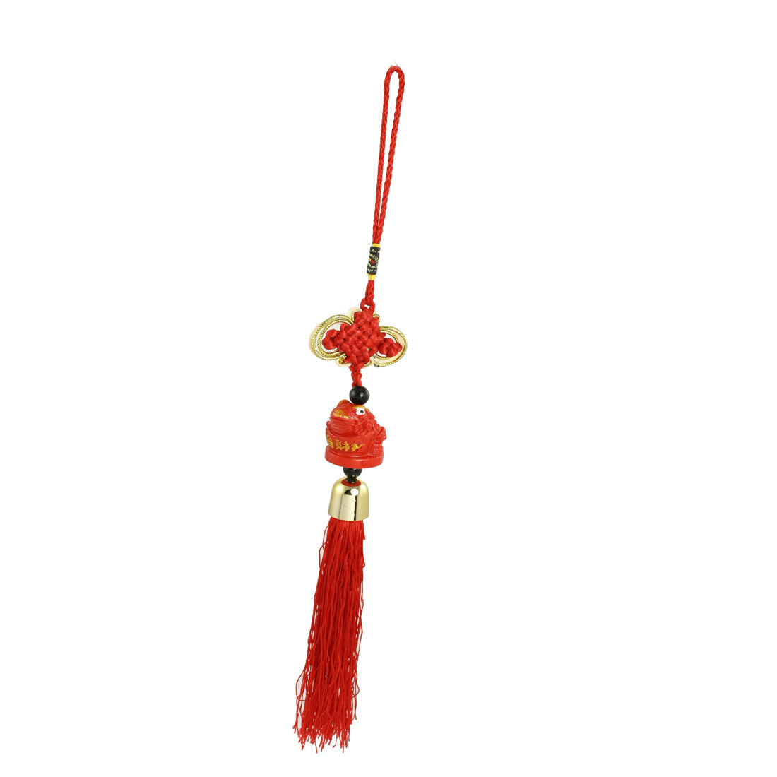 Vehicles Plastic Frog Pendant Red Chinese Knot Nylon Tassel Hanging Ornament