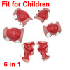 Red White Skating Elbow Knee Palm Protector 6 in 1 Set