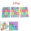 Assorted Color Educational Puzzle Foam Mat 26 Alphabets w 10 Numbers 3 Pcs