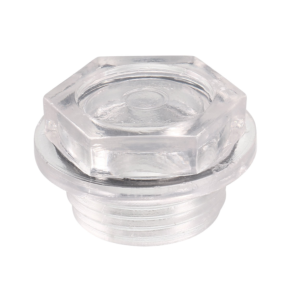 Black Rubber Washer Clear Plastic Oil Level Sight Glass 27mm for Air Compressor