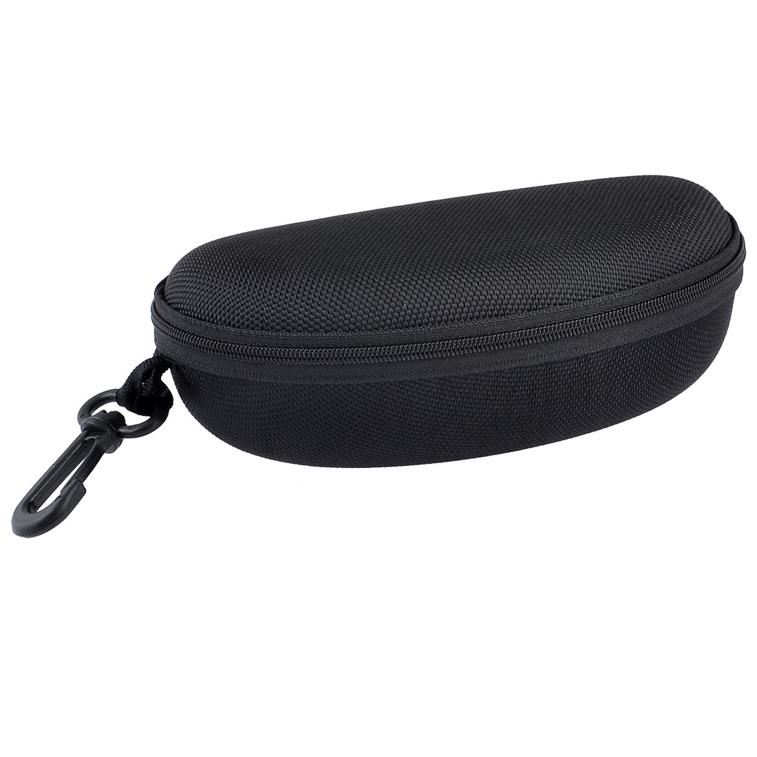 Portable Zipper Closure Sunglasses Eyeglasses Hard Case Box Holder Black