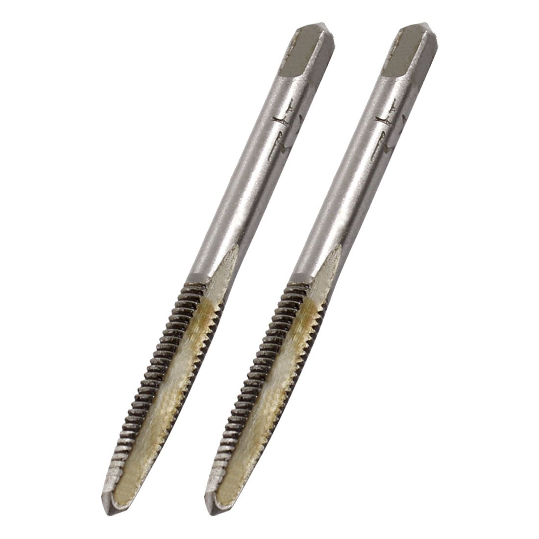 2 Pcs 4mm Cutting Dia 3 Flutes HSS Machine Screw Thread Taper Taps