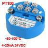 PT100 Temperature Sensor Transmitter -50-100C Output 4-20mA 24VDC