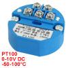 PT100 Temperature Sensor Transmitter -50-100C Output 0-10V DC