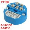 PT100 Temperature Sensor Transmitter 0-300C Output 0-10V DC