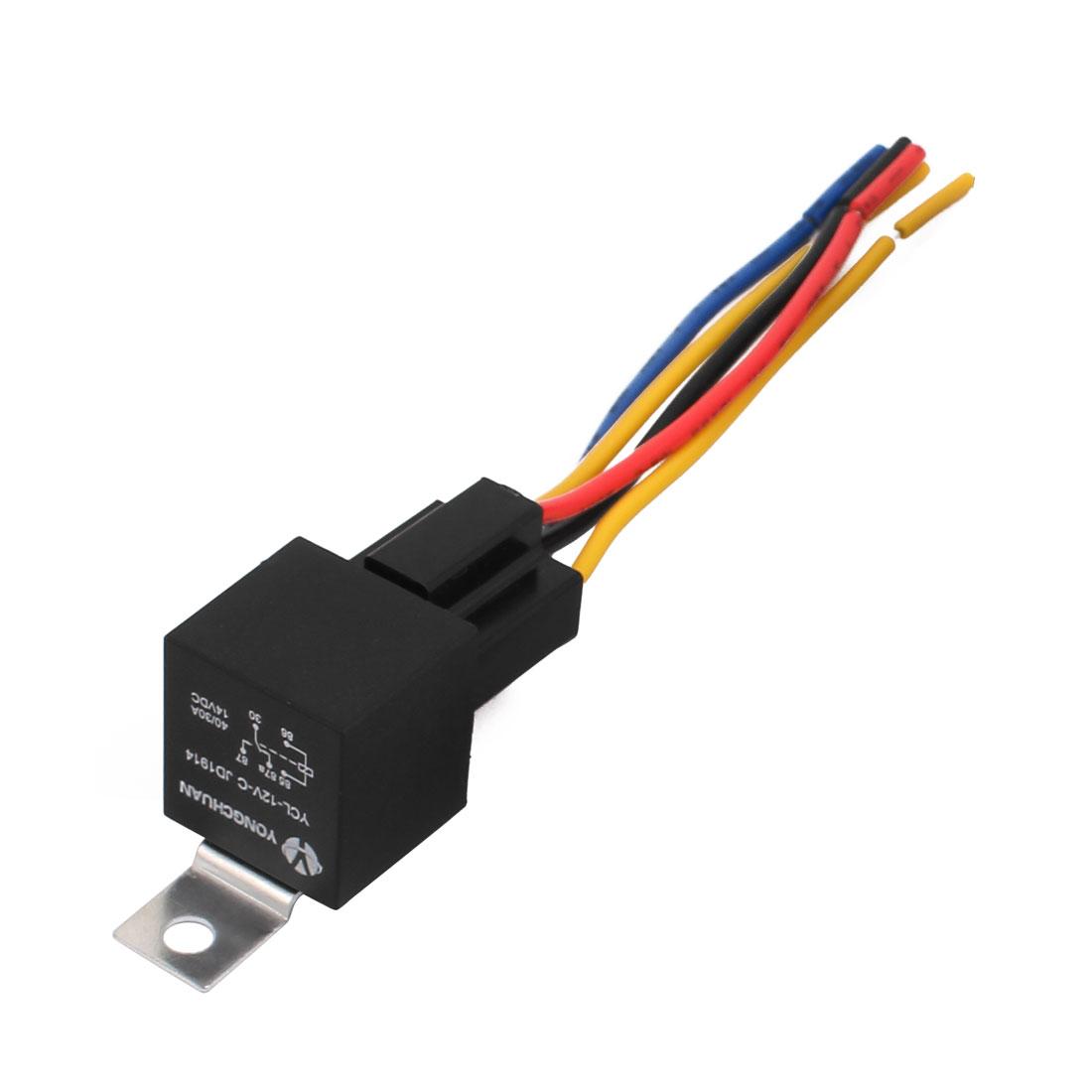 JD1914 DC 14V Coil Voltage Car Alarm 5 Pin 1NO+1NC Relay w Plastic Socket