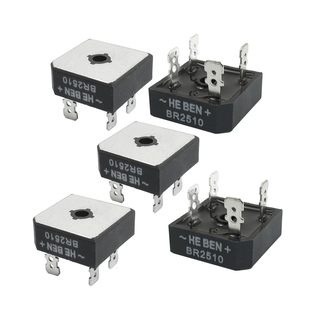 BR510 Half Wave Metal Case Single Phase Bridge Rectifier 5 Pcs