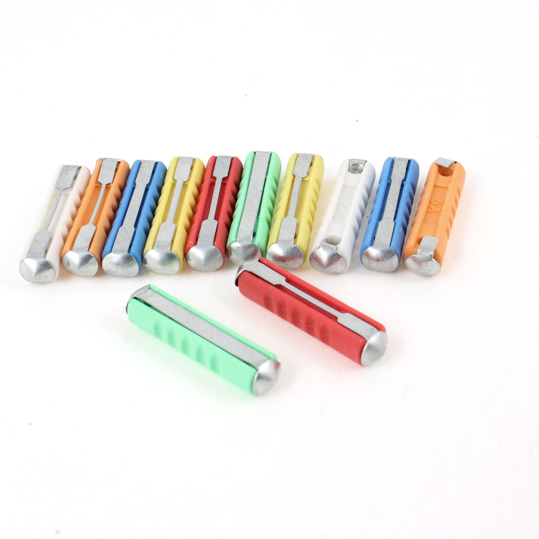 12PCS Colored Vehicle Protective Continental Torpedo Fuse 5A 8A 16A 20A 25A 30A
