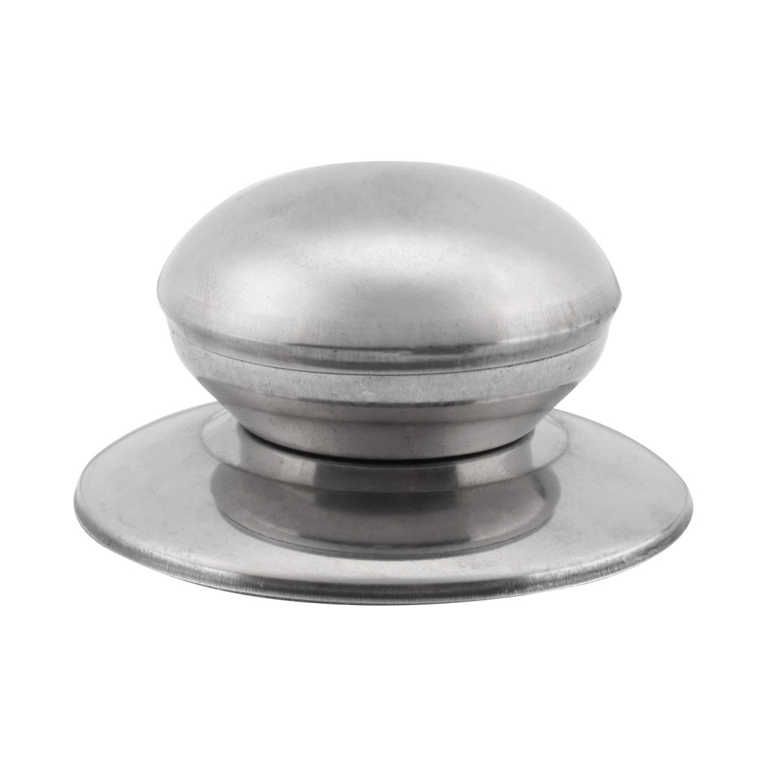 "Silver Tone Stainless Steel Tempered Glass Pot Pan Cover Lid Knob 2.8"" Dia"
