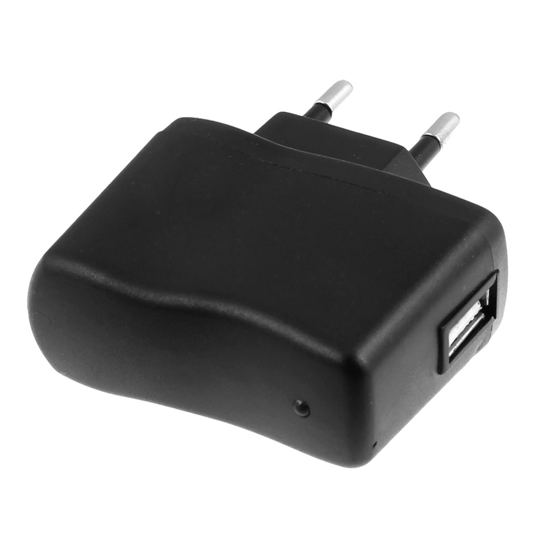 AC 110-240V 1000mA USB Port to EU Plug Black Charger Adaptor