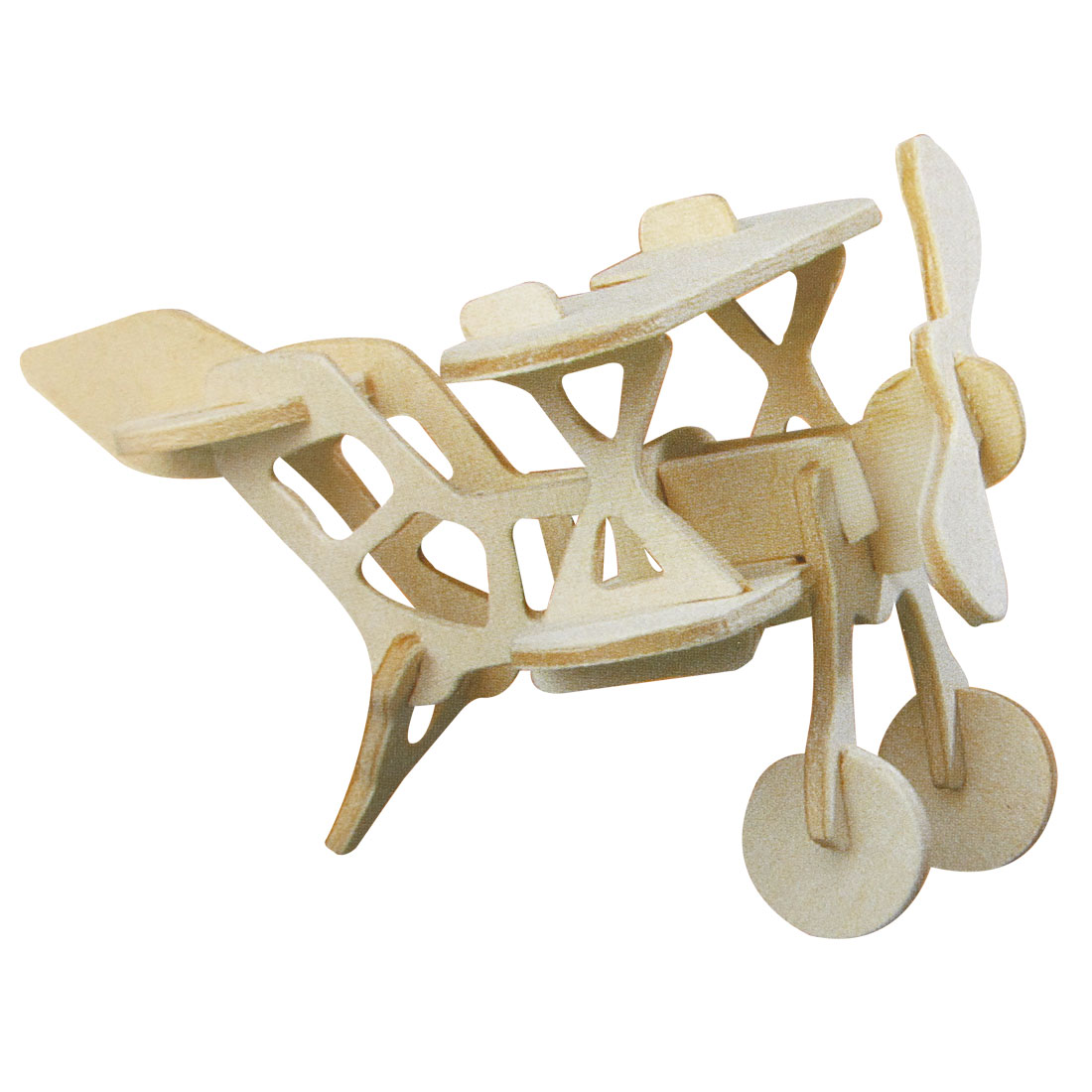 BI-plane Model Intelligence Assemble 3D Wooden Puzzle Toy for Children