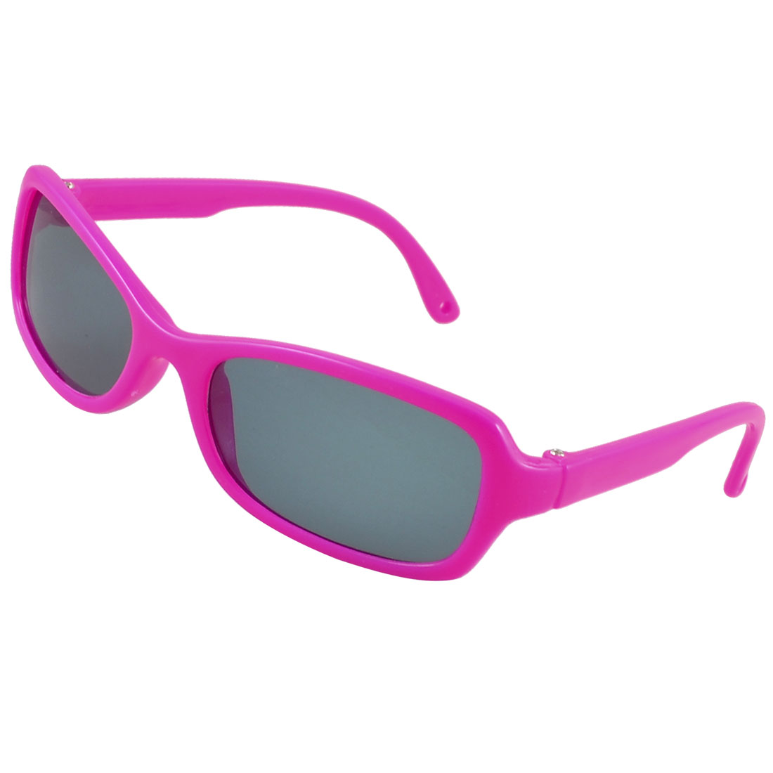 Single Bridge Magenta Plastic Rimmed Colored Lens Leisure Sunglasses for Kids