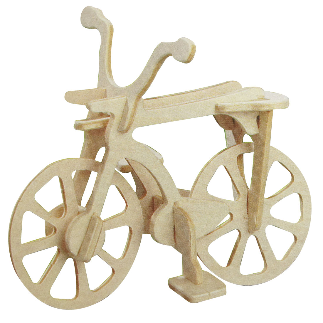 3D Assemble Educational Intelligence Bicycle Wooden Puzzle Toy