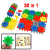 Children Intelligent Transformable Puzzle Colorful Blocks Toy 36 in 1