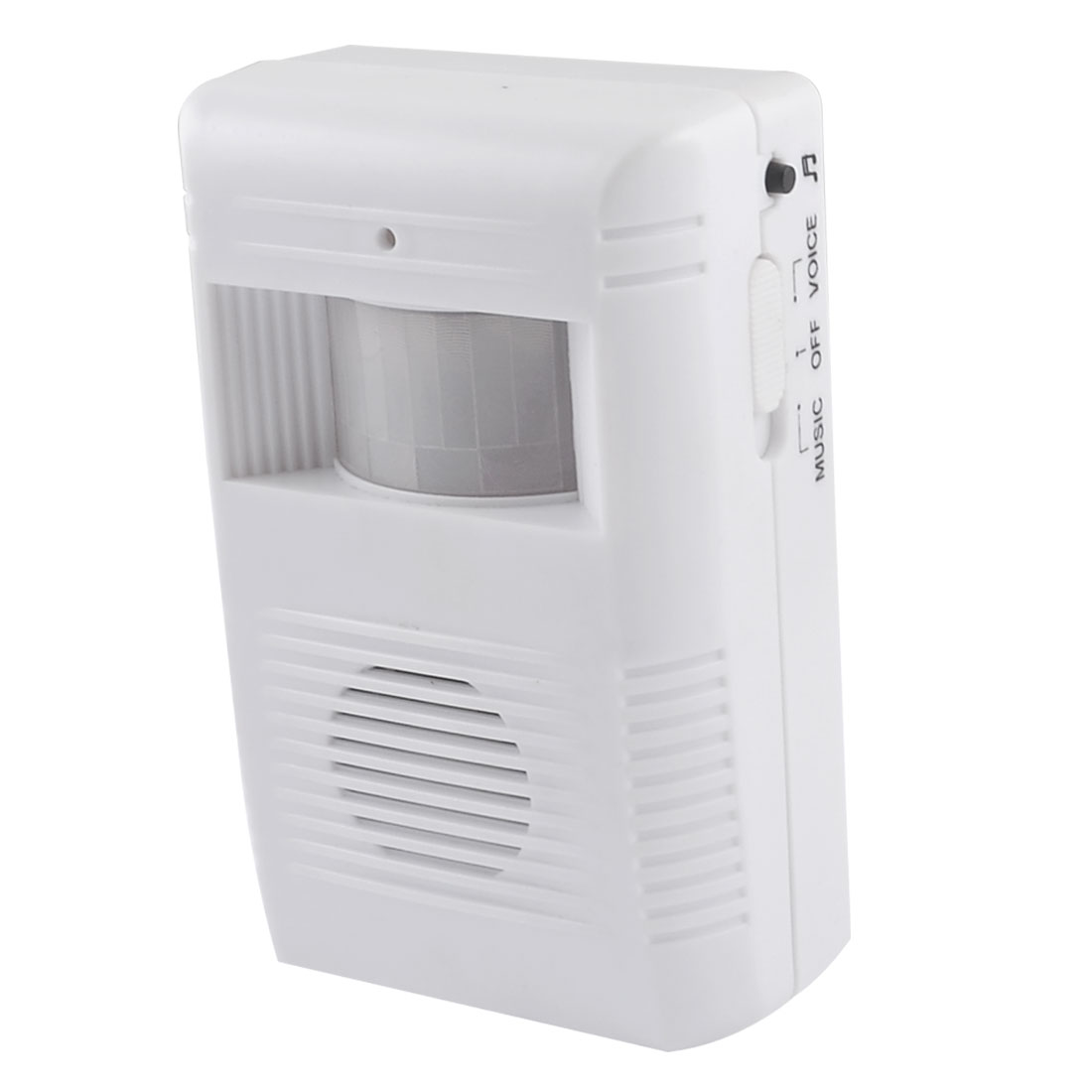 Battery Powered 16 Music Chime Greeting Warning Motion Sensor Wireless Doorbell White