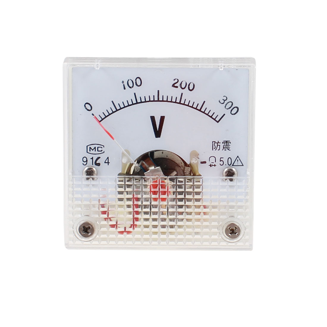 91C4 DC 0-300V Rectangle Analog Panel Volt Meter Voltmeter Gauge