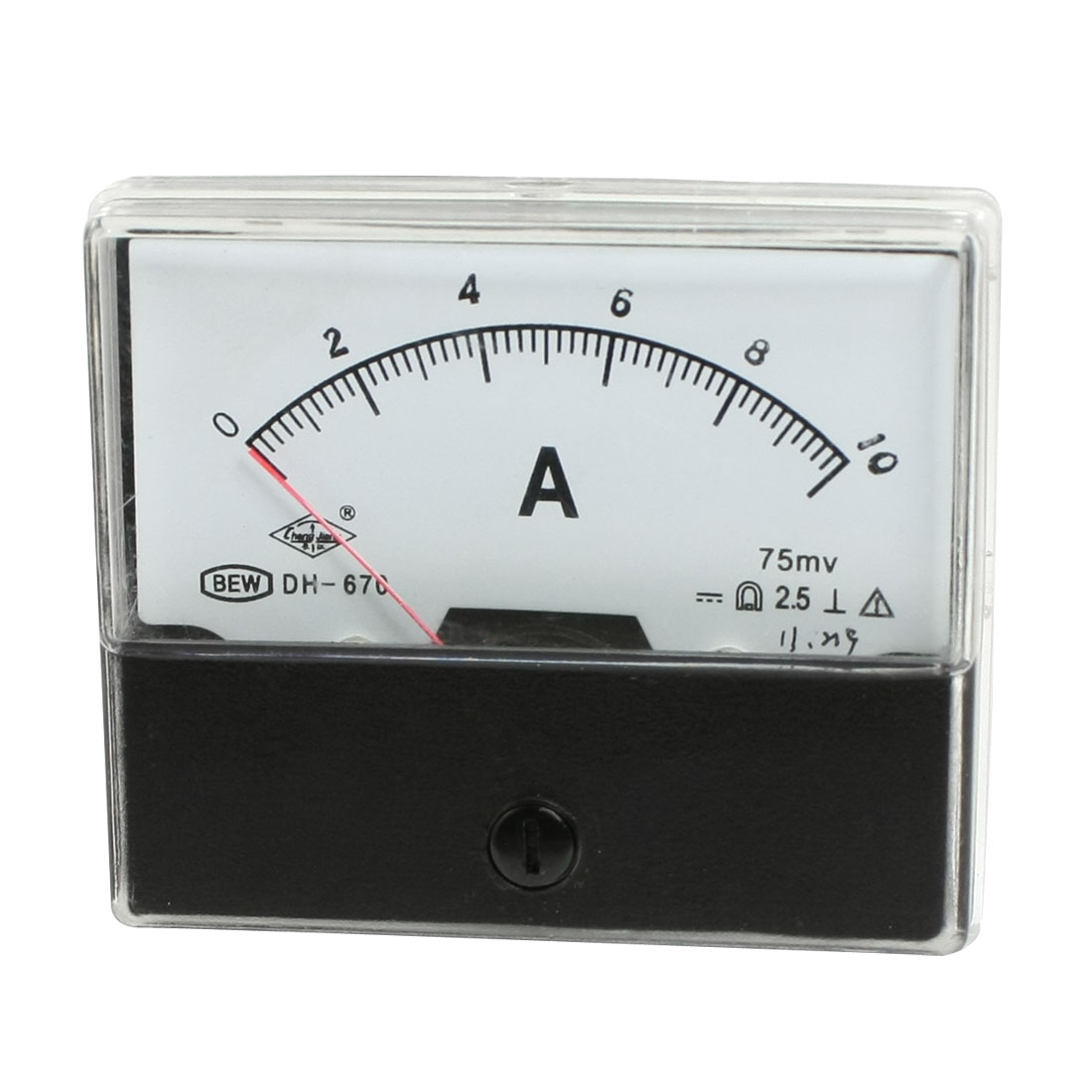 DC 0-10A Class 2.5 Accuracy Ampere Needle Panel Meter Gauge Amperemeter DH670