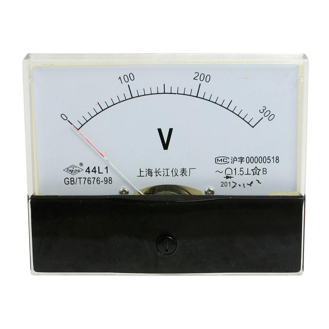 44L1 AC 0-300V Rectangle Analog Panel Volt Meter Voltmeter Gauge
