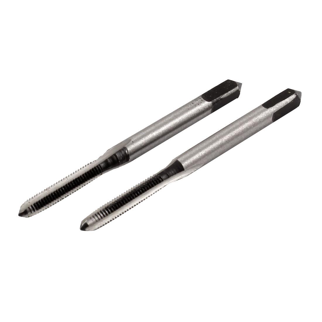 HSS 3 Flute 3mm x 0.5mm Taper and Metric Tap M3 x 0.5mm Pitch 2 Pcs