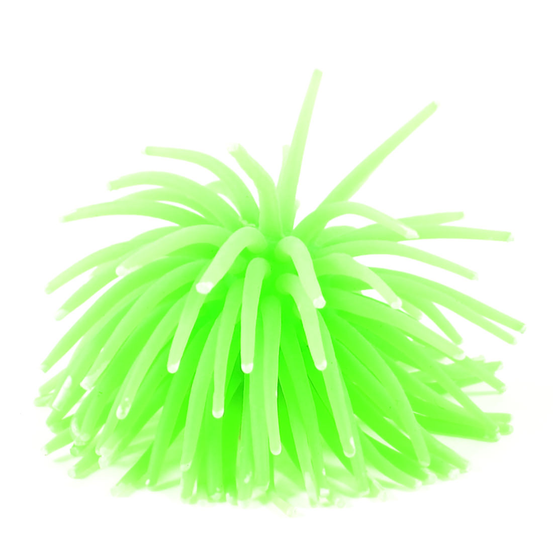 Aquarium Soft Silicone Arificial Coral Decor Simulated Water Landscaping Green