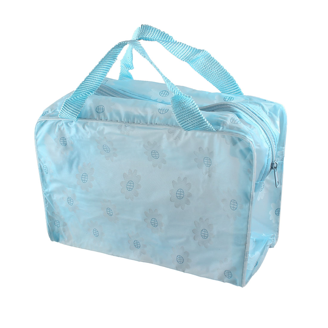 Blue Sunflower Decor Water Resistant Bathing Shower Tote Handbag