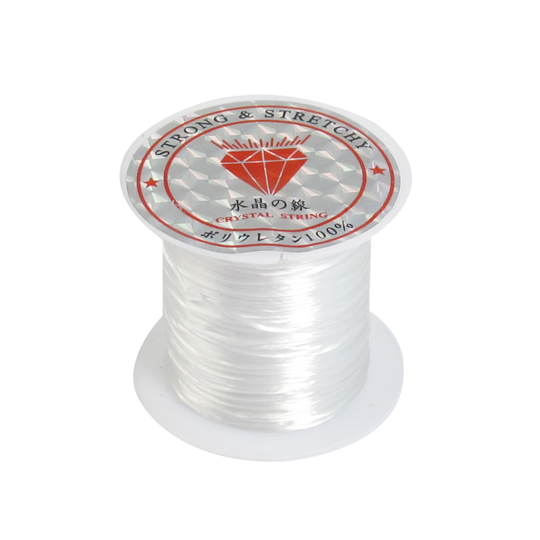 Stretch Elastic Round String Beading Line White for Beads