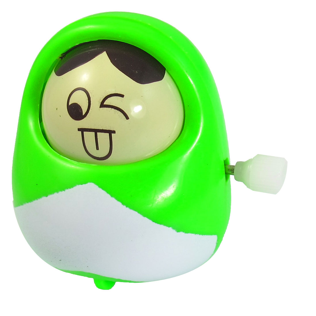 Green Plastic Naughty Boy Design Running with Wheels Wind up Toy