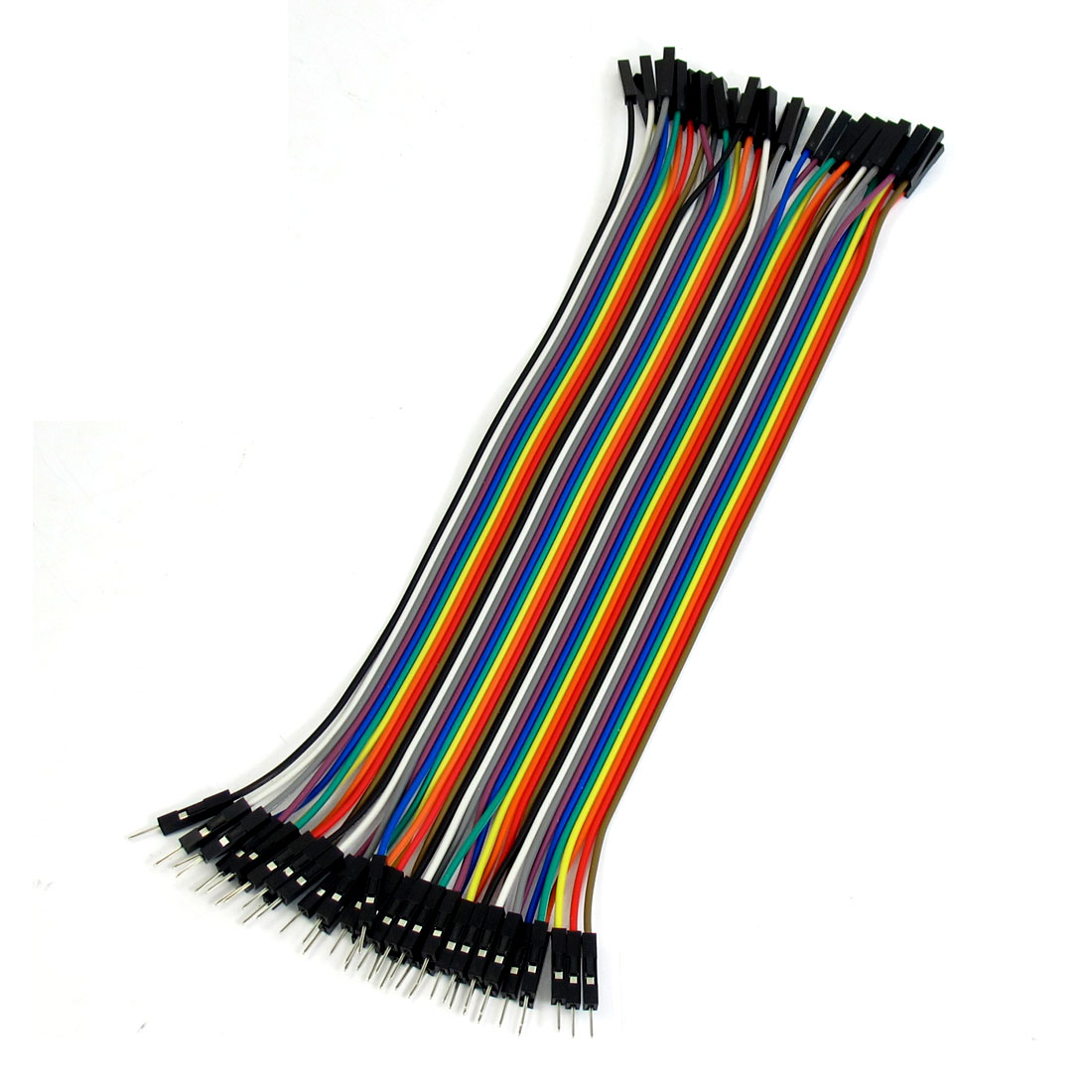 40 Pcs 1 Pin Male to Female Jumper Cable Wires 20cm Long