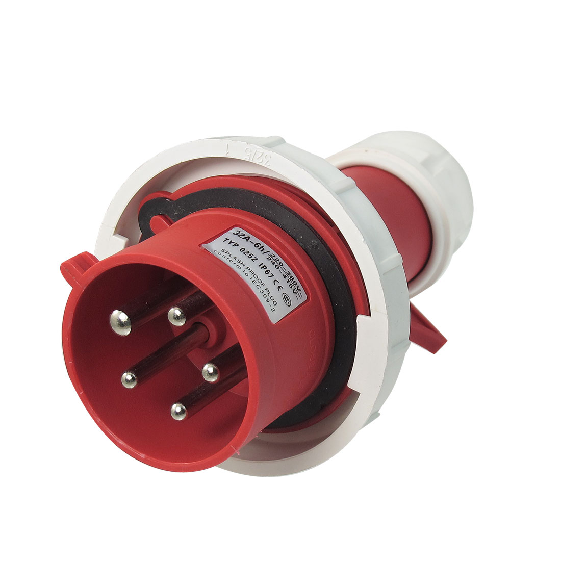 AC 32A Water Proof IP67 3P+E+N IEC309-2 Industrial Conector Red White