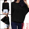 288 M Woman Mesh Patch Long Sleeve Round Neck Shirt Top Black