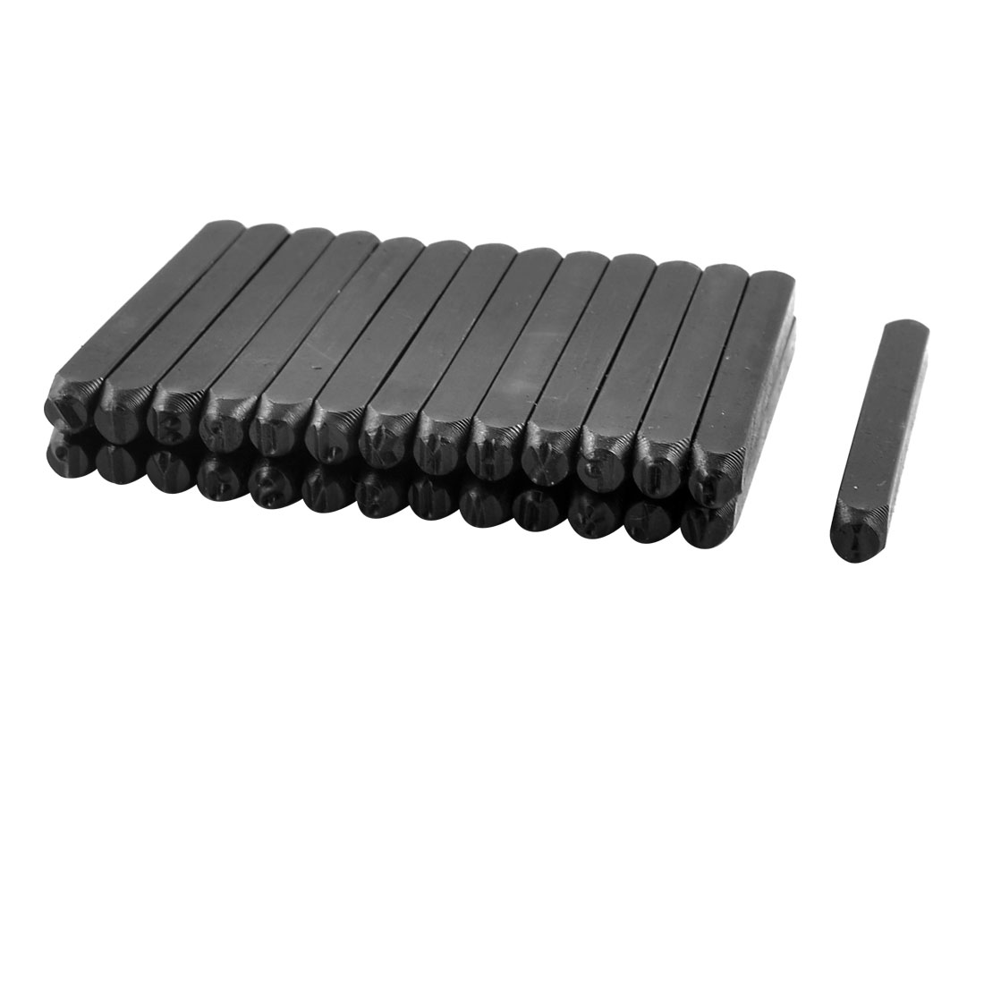 Straight Shank 4mm A-Z Steel Number Stamps Punch Set 26 in 1