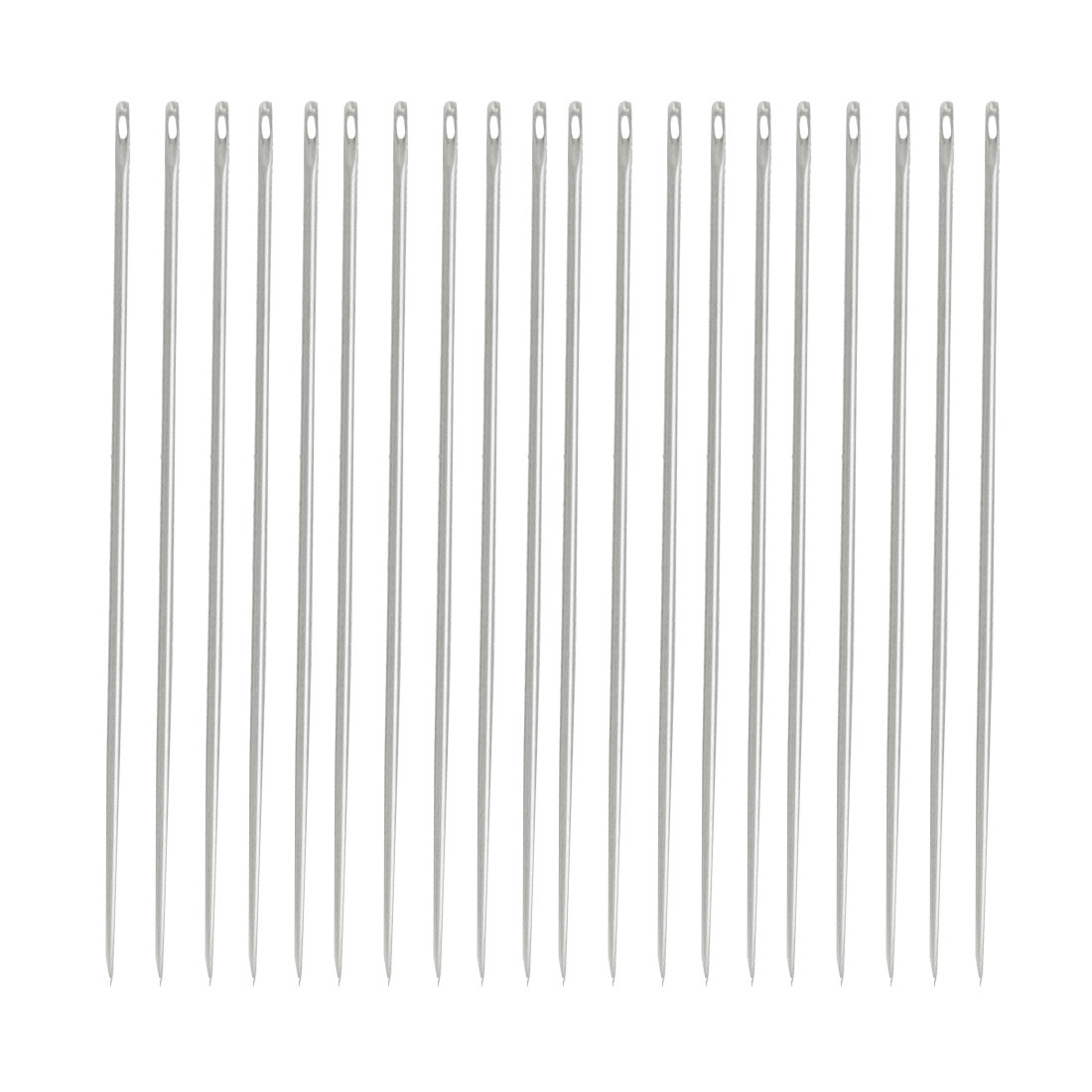 "20 Pcs Metal Pointed Tip Stitching Sewing Needles 1.4"" Long"