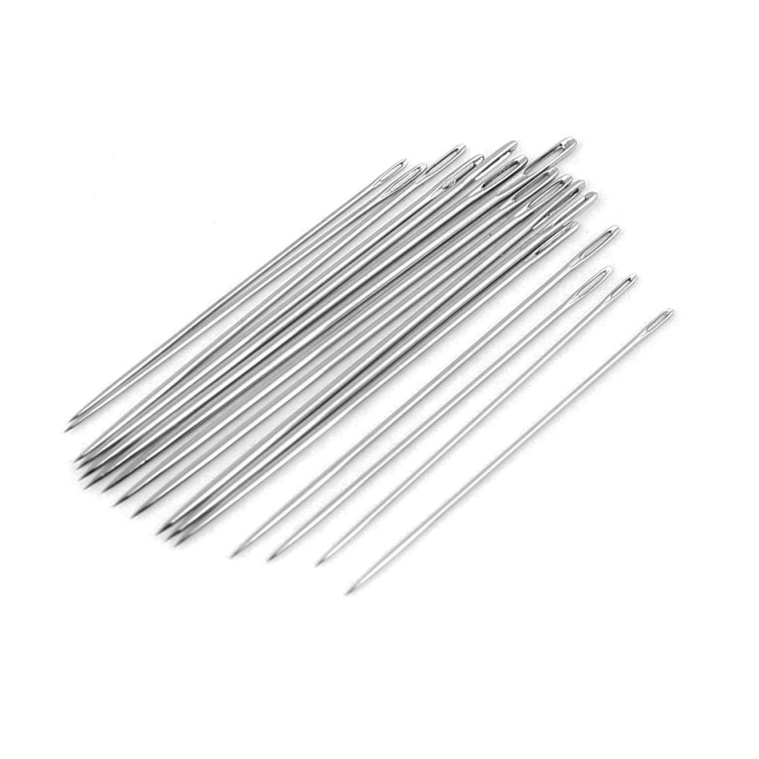 16 in 1 Silver Tone Sharp Pointed Tip Stitching Sewing Needles