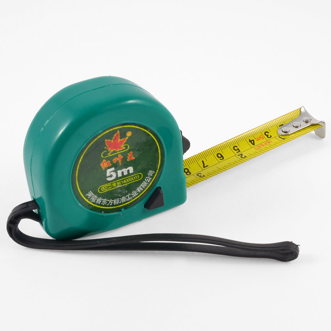 5M Jade Color Self Retractable Black Lock Button Measureing Tape